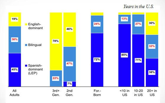 Hispanics by Language fluency