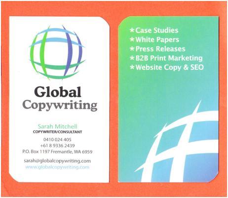 Sarah Mitchell Business Card - Sample 2