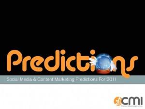 Content Marketing & Social Media Predictions