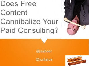 Does Free Content Cannibalize Your Consulting?