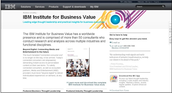 IBM Institute for Business Value, CMI