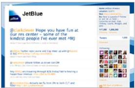 JetBlue on Twitter, CMI