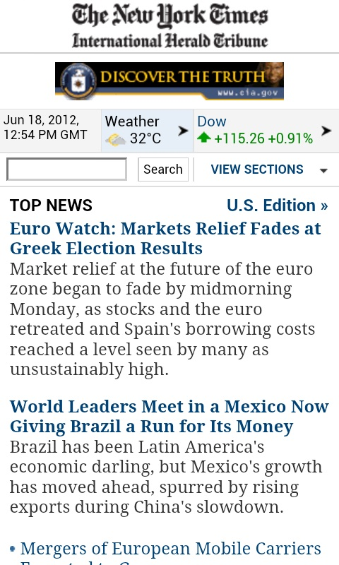 new york times for mobile, CMI