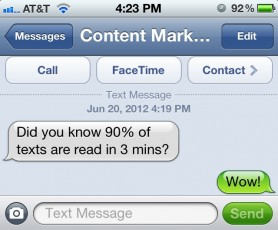 generate a buzz with text messaging, CMI
