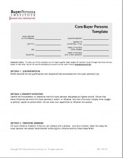 Core Buyer Persona Template