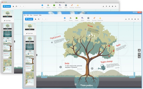 Prezi is a powerful storytelling tool