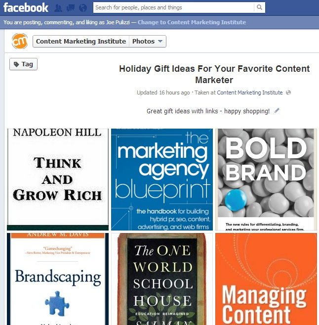 Content Strategy for 2013 - Facebook