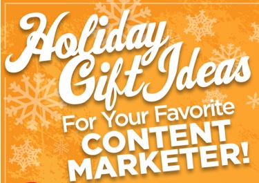 Content marketer holiday gifts - cover