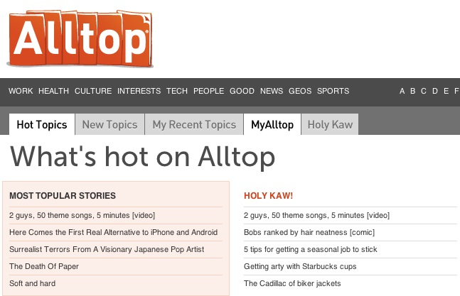AllTop curation source