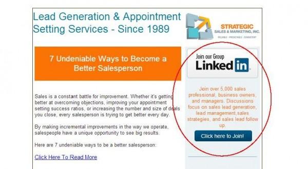 low-key content promotion - linkedin