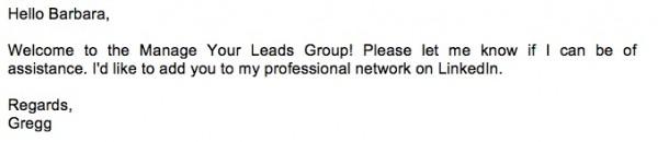 invitation to new linkedin group members