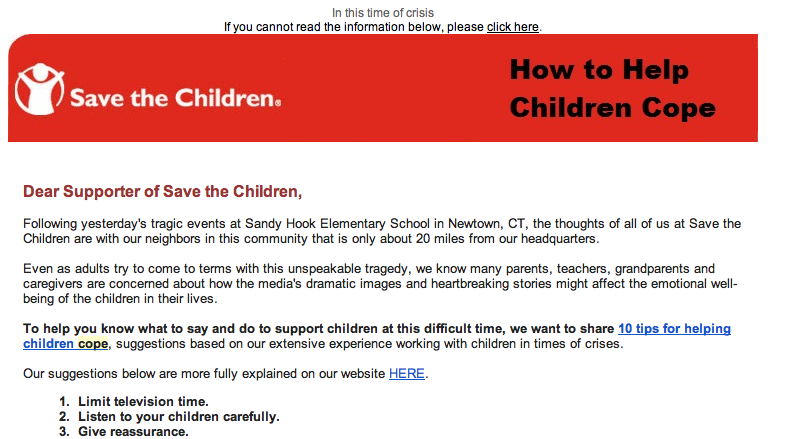 branded content, Save the Children content