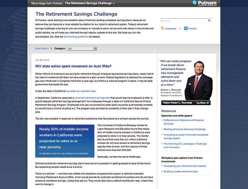 putnam investments-retirement savings challenge