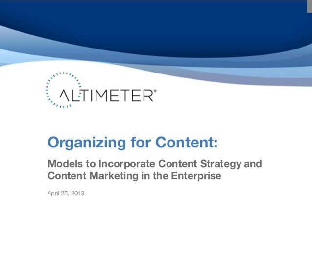 Organizing Your Department for Content Marketing: Strategic Requirements
