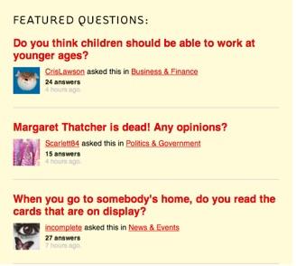editorial content-Q&A