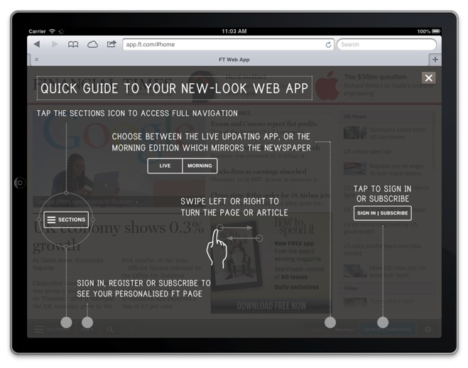 financial times-new look web app