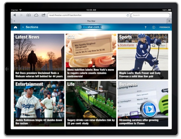 Toronto Star-mobile content