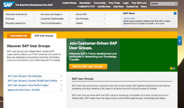 sap user groups