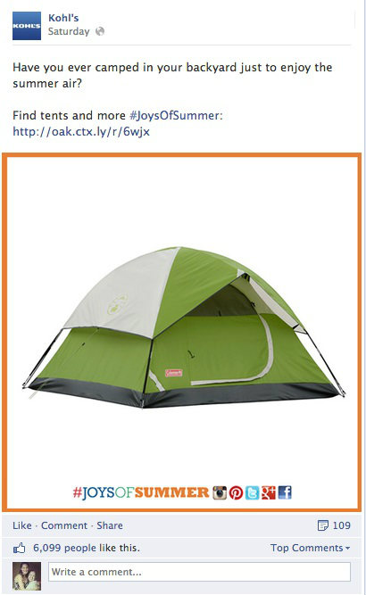 kohl's tent