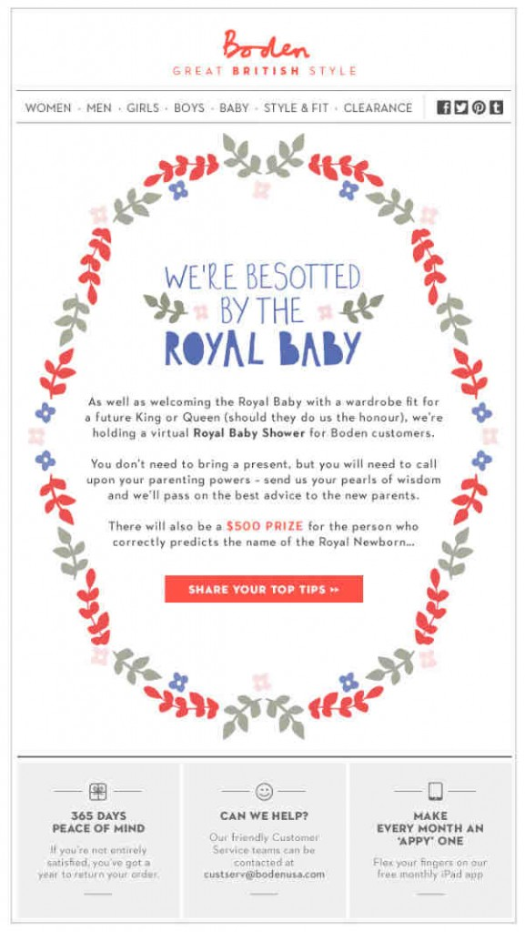 Boden-royal baby shower invitation
