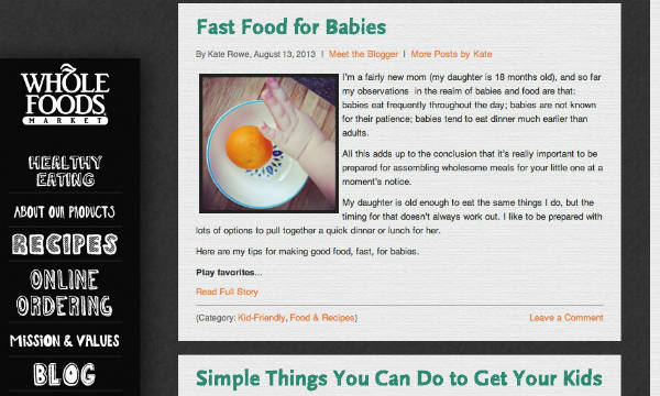 whole foods-fast food for babies