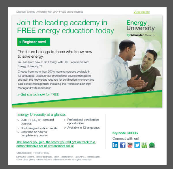 energy university-call to action