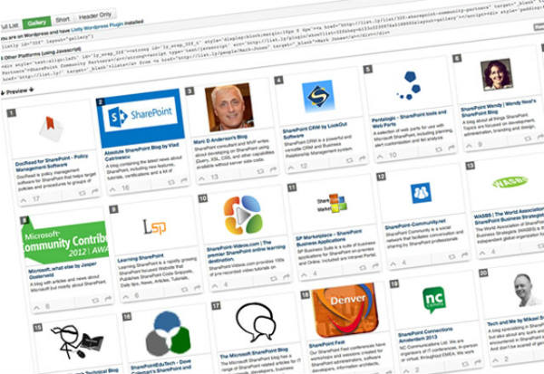 SharePoint listing
