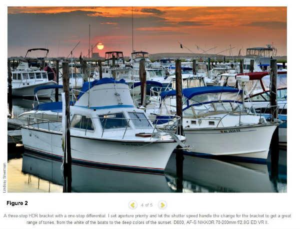 sunset boat image-Nikon