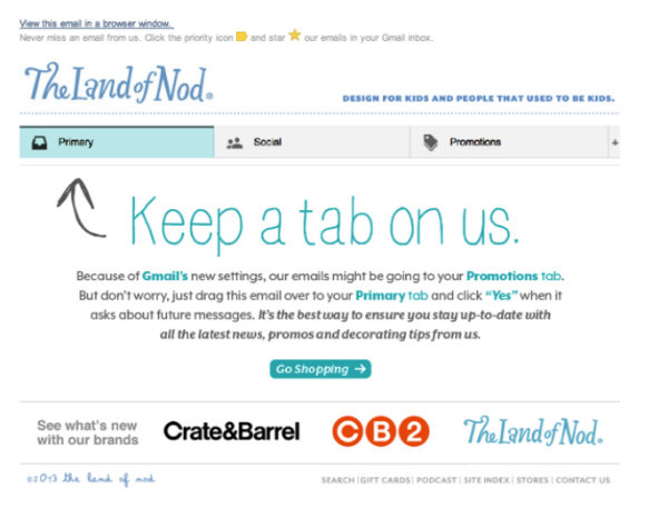 land of nod - keep a tab on us