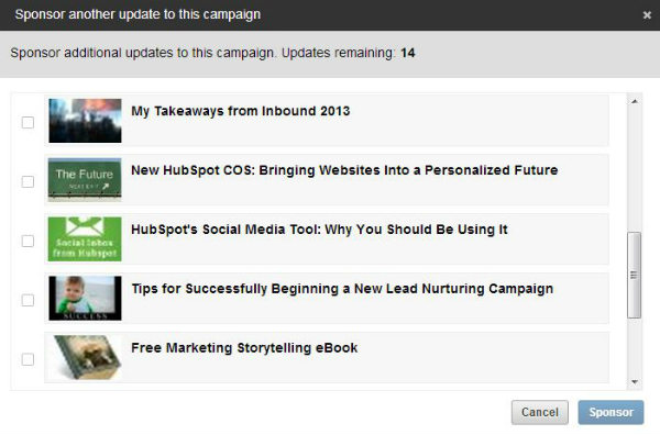 sponsored updates on linkedin
