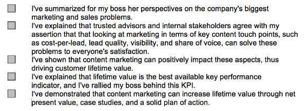 marketing strategy checklist