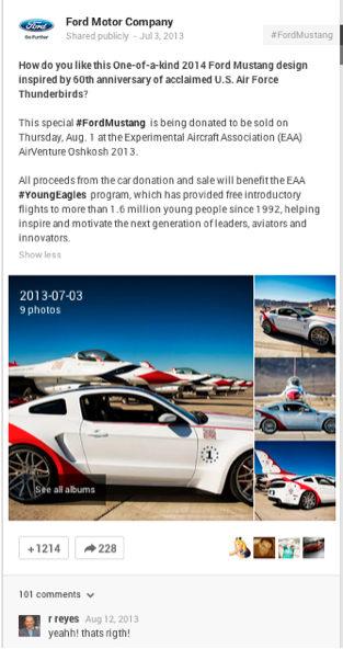 ford motor company post
