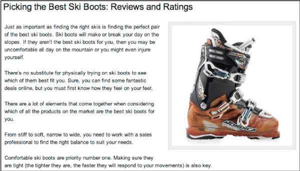 picking best ski boots
