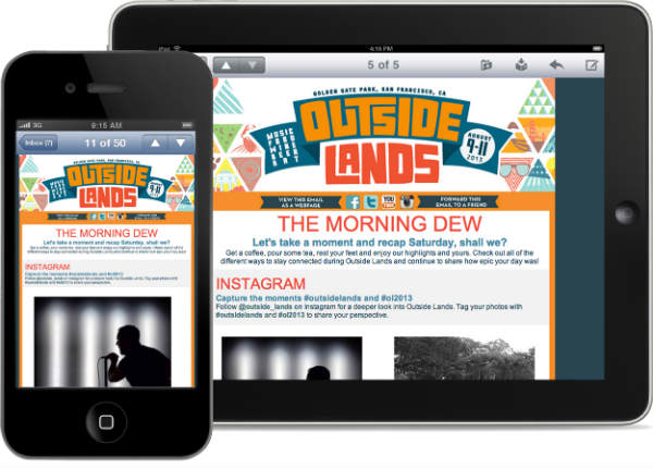 outside lands-content on mobile, tablet