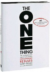 book cover-the one thing