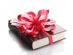 book with a bow-holiday gift books