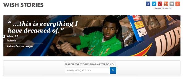 boy driving race car-wish stories
