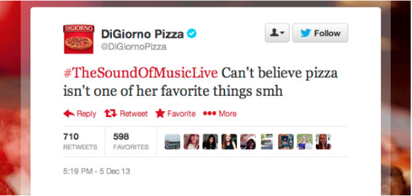 digiorno pizza-sound of music tweet