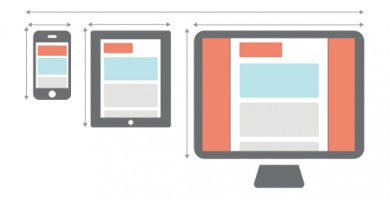 three screens-showing optimized content