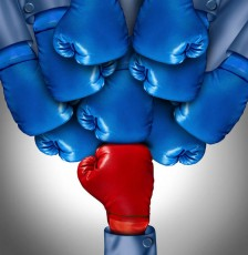 boxing glove holding back others-bias