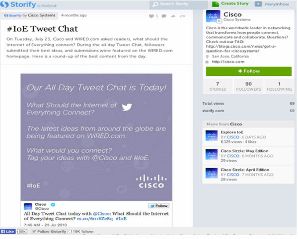 ioe tweet chat-storify example
