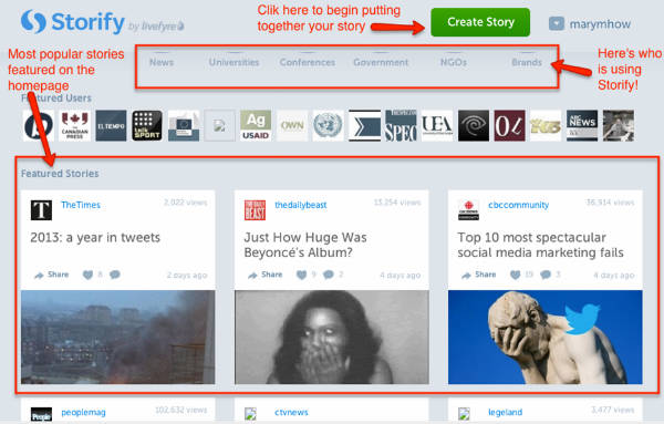 Storify -Homepage-Example