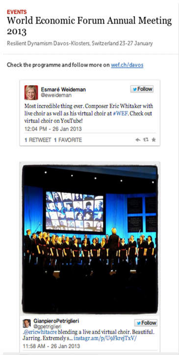 Storify example-world economic forum