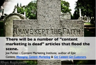 tombstone-content marketing death prediction