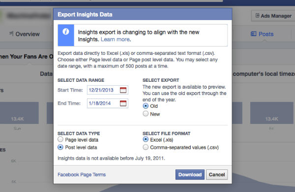 export insights data