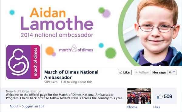 aidan lamothe-march of dimes national ambassador
