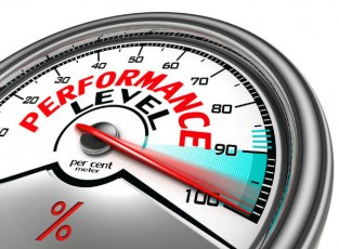 performance level meter-gauge