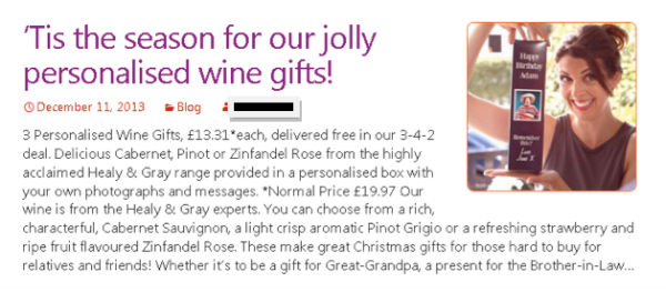 personalized wine gifts ad