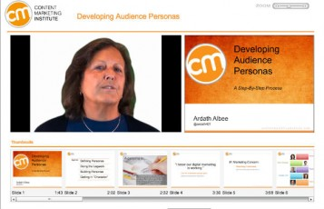course offering-developing audience personas