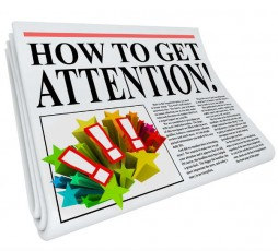 newspaper image-get attention